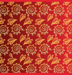 ornamental shapes texture style background vector image vector image