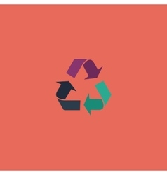 Recycling flat icon vector image vector image