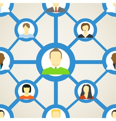 Seamless background of people on social network vector image