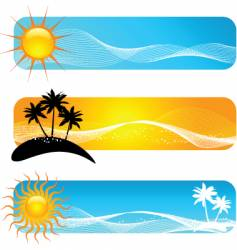 tropical banners vector image vector image