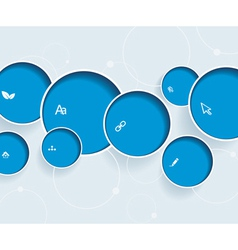 Web design with blue bubbles vector image