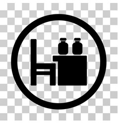 Apothecary table icon vector