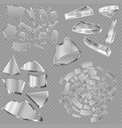 broken glass sharp pieces of window and vector image