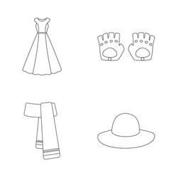 Dress clothes fashion style and other clothes vector