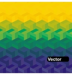 geometric background in Brazil flag vector image vector image