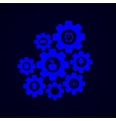 modern mechanism infographic background vector image