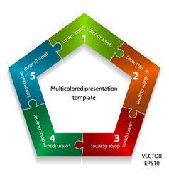 presentation template vector image vector image
