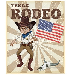 Rodeo poster vector image