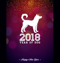 2018 chinese new year with white vector image