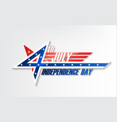 4th july united stated independence day logo vector image