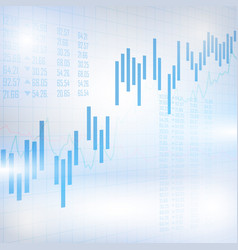 Abstract financial chart with uptrend line graph vector