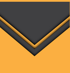 Abstract yellow gray arrow background vector