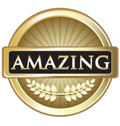 Amazing Gold Label vector