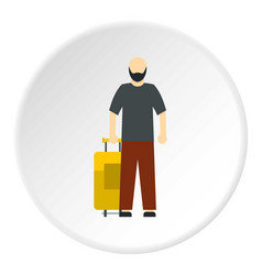 Arabic man icon circle vector