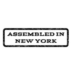 Assembled in new york watermark stamp vector