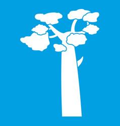 Baobab icon white vector