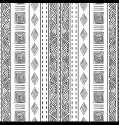 black and white seamless tribal pattern vector image