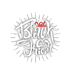 Black Friday dotworking sale - stickers badges vector image
