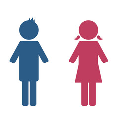boy and girl icon design vector image
