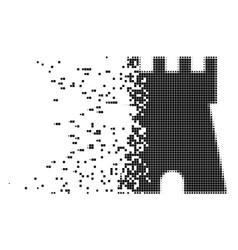 Bulwark tower destructed pixel icon vector