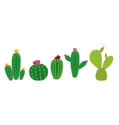 cactus icon collection set vector image