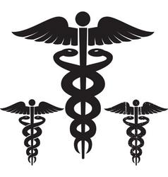 caduceus vector images over 4 100 rh vectorstock com Medical Snake Vector Caduceus as a Symbol of Medicine