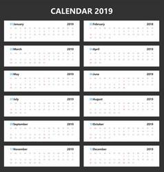 calendar 2019 landscape design vector image