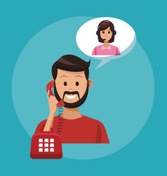 Call center line service vector