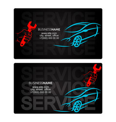 Car repairs business card vector