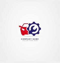 Car service icon logo template vector