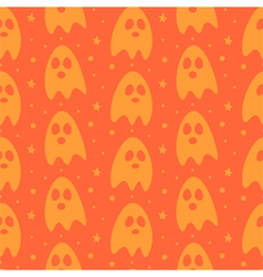 Cartoon halloween ghosts seamless pattern vector