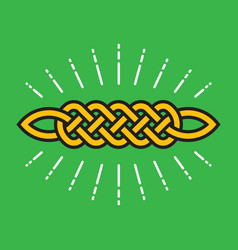 celtic infinity knot design vector image