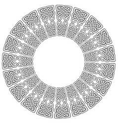 Celtic mandala on white background vector