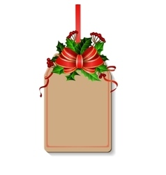 Christmas decoration with bow vector image