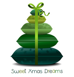 Christmas pillows tree vector