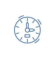 clock line icon concept clock flat symbol vector image