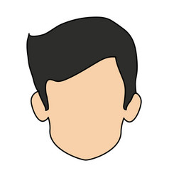 Colorful realistic image faceless front view man vector