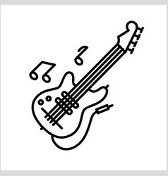 concept of flute guitar music vector image