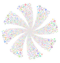cooperation fireworks swirl rotation vector image