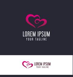 Couple love logo design concept template vector