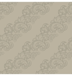 Damask vintage seamless pattern vector