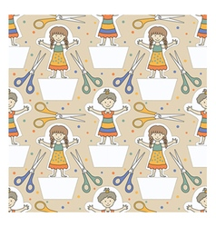 dolls pattern 1 vector image