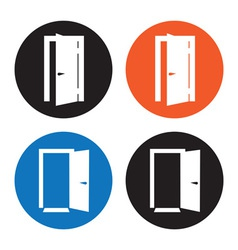 Door icons vector