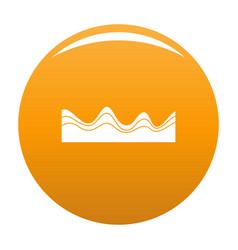 Equalizer sound effect icon orange vector