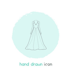 Evening wear icon line element vector