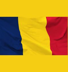 Flag republic chad vector