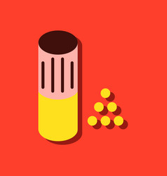 Flat icon design collection shotgun bullet in vector
