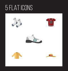 flat icon dress set of elegant headgear foot vector image