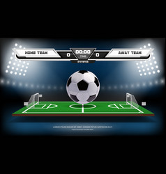 Football or soccer playing field with infographic vector