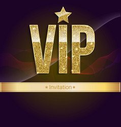 Golden symbol of exclusivity the label vip with vector